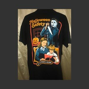"Halloween Safety ""A Sitters Guide"" T Shirt LARGE"